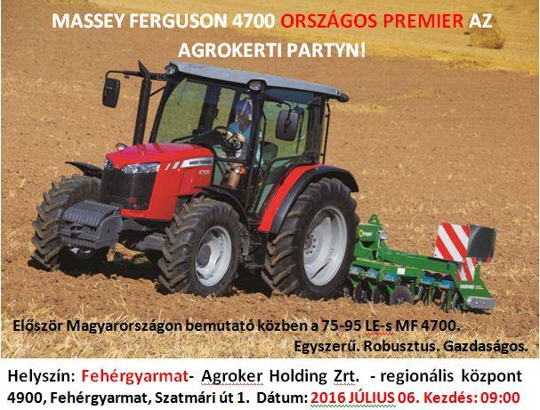MF 4700 országos premier!