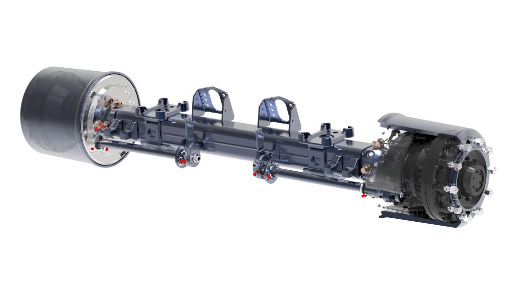 a BPW AGRO Drive elnevezésű hidraulikus hajtott tengelye nem csak a jármű vontathatóságát javítja, hanem, a szervizelést is egyszerűsíti. (Forrás: BPW Bergische Achsen KG)