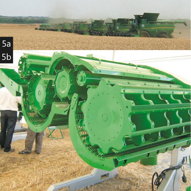 A JOHN DEERE arató-cséplőgép család búzabetakarításban és a T sorozat cséplőszerkezete
