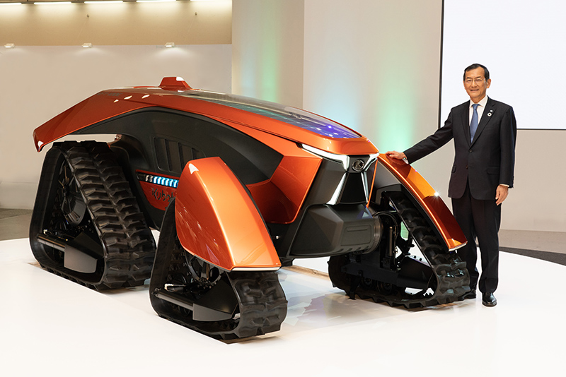 Mr. Kitao with concept tractor